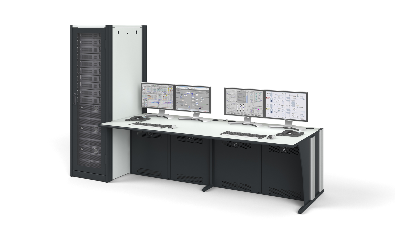 Dacobas workstation with server rack