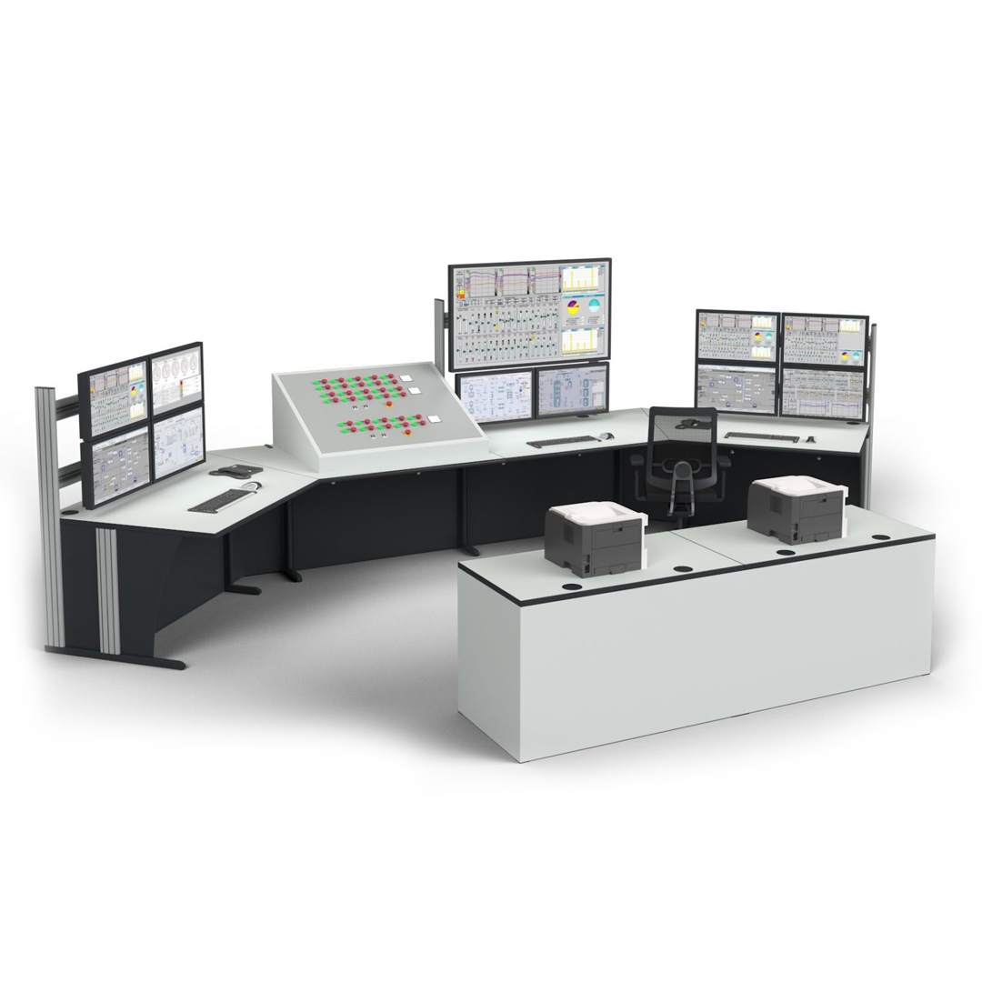 Graphic illustration of a Dacobas Advanced Workstation